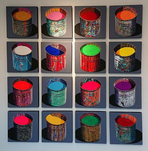 """16 """"Pots de peinture"""" par Stéphane Braud"""