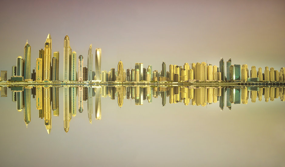 Dubai cityscape, wanddecoratie, Wallpics.nl