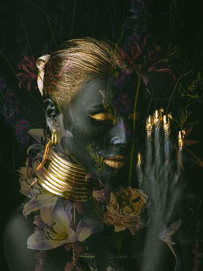 Golden girl light flowers