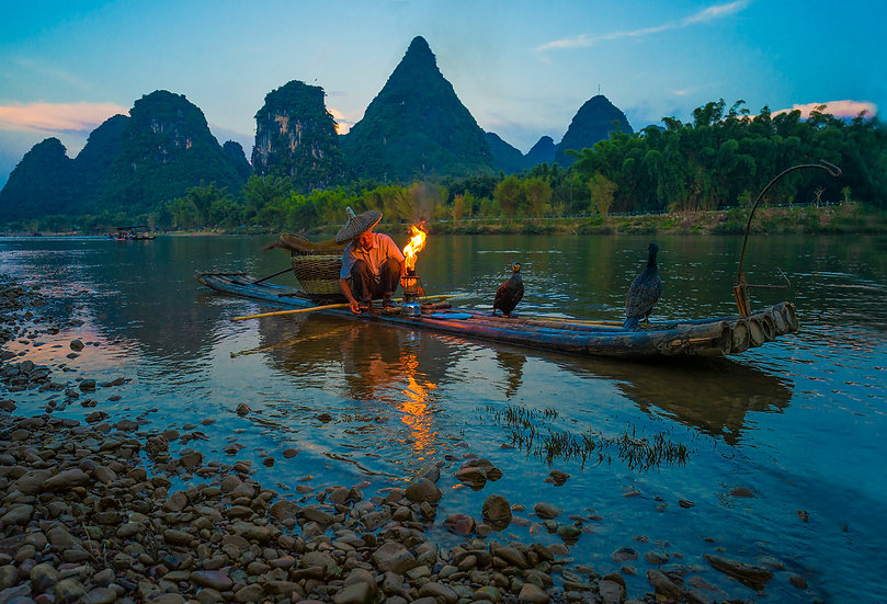 CHINESE FISHERMAN -YANGSHUO