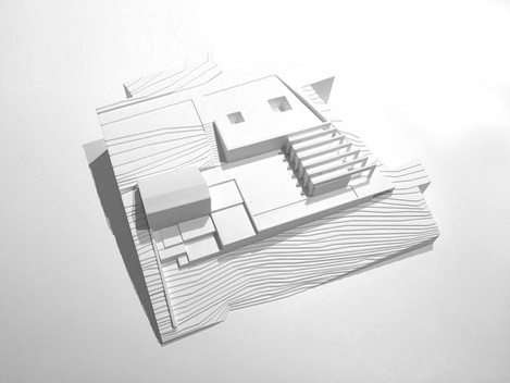 Modello volumetrico nuovo edificio residenziale