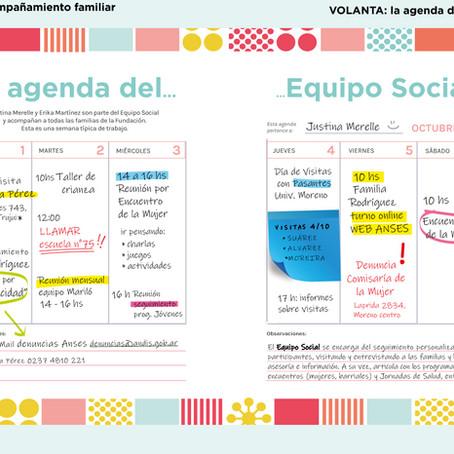 la agenda del equipo social