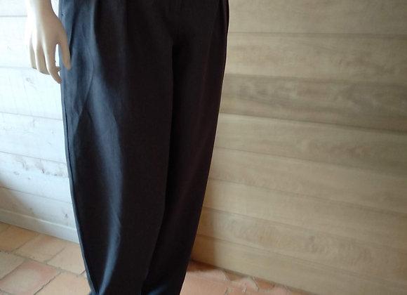 pantalon femme à pinces gris clair