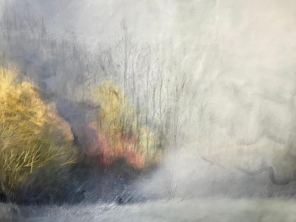 obra realizada sobre lienzo, con pigmentos naturales y oleo