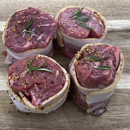 Bacon Wrapped Beef AAA Medallions - 4 Pieces
