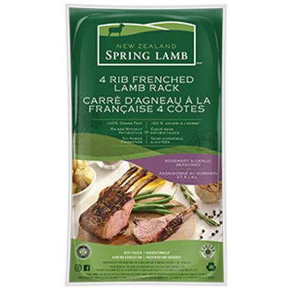 Lamb Racks - 4 Ribs  – Rosemary & Garlic Seasoned -Pack