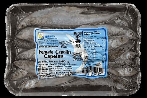 Female Capelin Fish - 340g