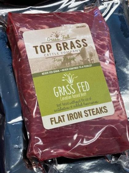 Beef Grass Fed - TG Flat Iron Steaks  - 340 g