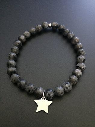 Bracelet Labradorite & Etoile
