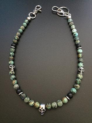 Mixte Turquoise Africaine/Onyx mat & Skull