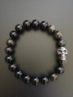 Golden Obsidian & Skull