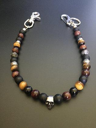 Mixed Bull's Eye / Tiger's Eye / Matte and shiny Onyx & Skull / rings