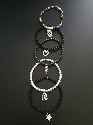 "Serie ""Black & White"" 5 bracelets"