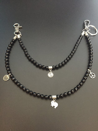 Double Melange Onyx Mate/Onyx facette  & Charms