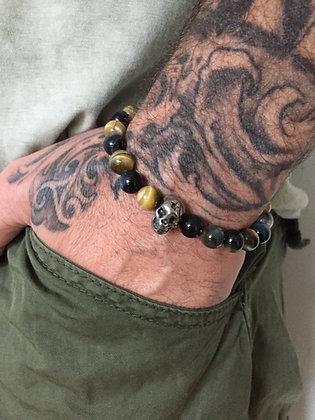 Bracelet 8 en Oeil de tigre Fancy