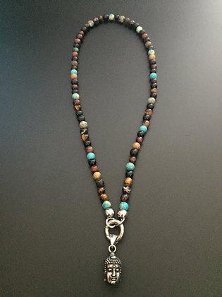 Collier Clip Mixte* couleurs & Bouddha