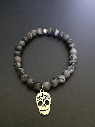 Bracelet Labradorite & Mexican skull