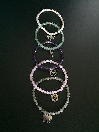 """Serie """"Pastel Candy"""" 5 bracelets"""