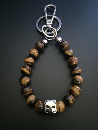 Porte-clés Oeil de tigre & Skull Dé
