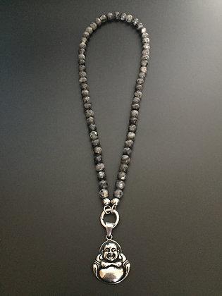 Collier Clip Labradorite & Bouddha