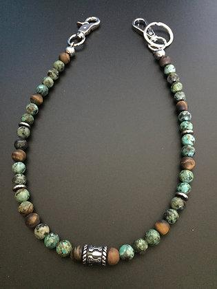 Mixte Turquoise Africaine /Oeil de tigre mat & Tonneau