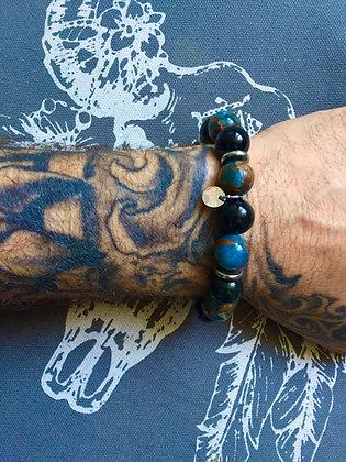 "Bracelets Duo pour LUI""Blue Night"""