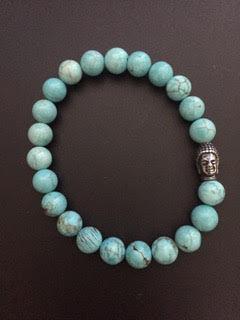 Howlite Turquoise & Bouddha
