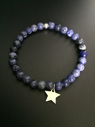 Bracelet Sodalite & Etoile