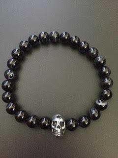 Agate noire & Skull