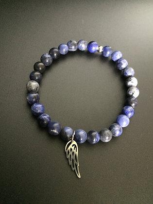 Bracelet Sodalite & Aile d'Ange