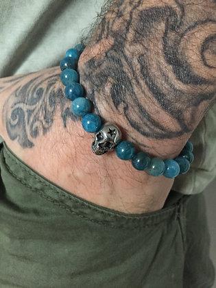 Bracelet 8 en Apatite & Skull étoile