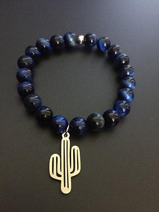 Bracelet Oeil de Faucon & Cactus