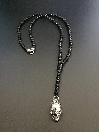 Chapelet Onyx Brillante & Skull