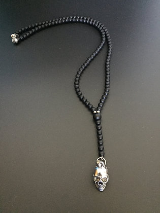 Chapelet Onyx Mat & Skull