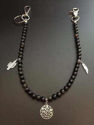 Obsidienne dorée & Charms