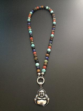 Collier Clip Mixte couleur*& Bouddha
