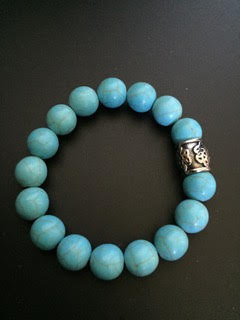 Howlite Turquoise & Cylindre