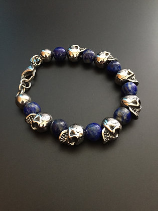 Lapis Lazuli & Skull