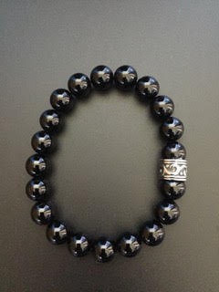 Onyx noire brillant & Bague