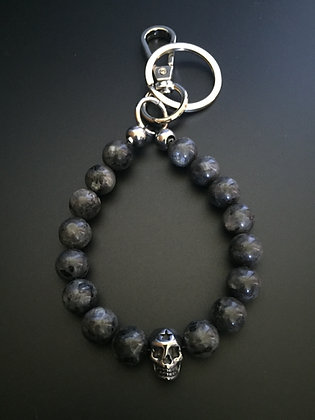 Porte-clés Labradorite & Skull Etoile