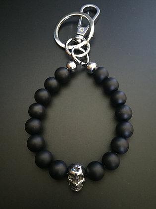 Porte-clés Onyx Mate & Skull Etoile
