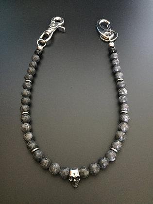 Labradorite/Onyx brillante & Skull