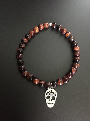 Bracelet Oeil de Taureau & Mexican Skull