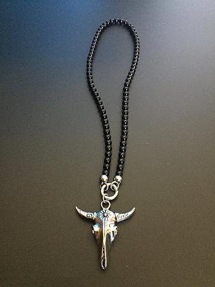 Collier Clip 6MM Onyx Brillante & Buffalo