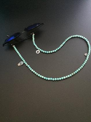 Chaîne de Lunettes Howlite turquoise & Charms
