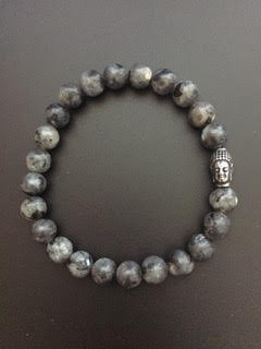 Labradorite & Steel Buddha