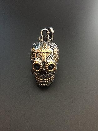 Skull Calavera Silver/ gold