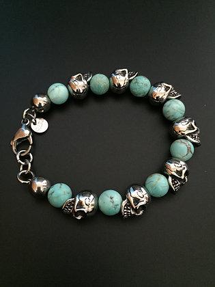 Howlite turquoise & Skulls