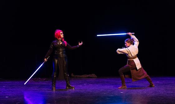 duel jedi sith star wars sabre laser