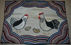 Heirloom Chickens $695 27x39